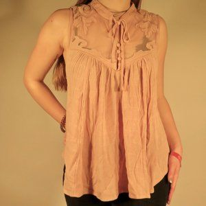 Western Romance Sleeveless Blush Free People Top
